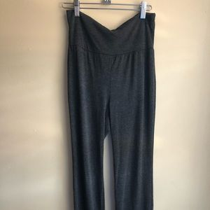 Pants - Roll over flared yoga pants